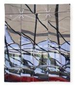 Mirroring On Vitreous Wall Fleece Blanket