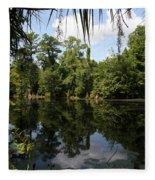 Mirrow Lake - Magnolia Gardens Fleece Blanket