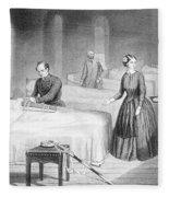 Miss Nightingale In The Hospital Fleece Blanket