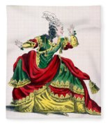 Miss Sainval As Zenobie In Zenobie Fleece Blanket