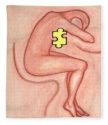 Missing Piece 3 Fleece Blanket