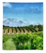 Mission Peninsula Vineyard Ll Fleece Blanket