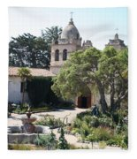 Mission San Carlos Borromeo Del Rio Carmelo Fleece Blanket