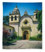 Mission San Carlos - Carmel California Fleece Blanket
