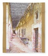 Mission San Juan Capistrano No 5 Fleece Blanket