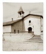 Mission San Luis Obispo Circa 1890 Fleece Blanket