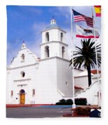 Mission San Luis Rey Fleece Blanket