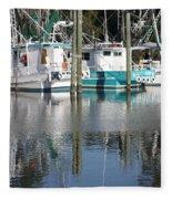 Mississippi Boats Fleece Blanket