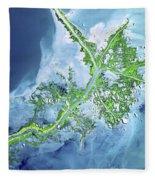 Mississippi River Delta Fleece Blanket