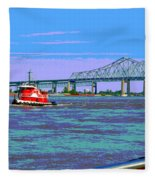 Mississippi River Scene Poster Fleece Blanket