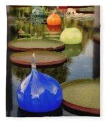 Missouri Botanical Garden Six Glass Spheres And Lilly Pads Img 2464 Fleece Blanket