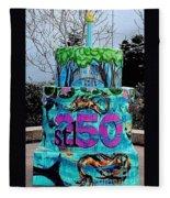 Missouri Botanical Garden Stl250 Birthday Cake Fleece Blanket