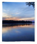 Missouri River Blues Fleece Blanket