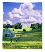 Missouri River Valley Fleece Blanket