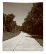 Missouri Route 66 2012 Sepia. Fleece Blanket