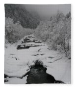 Mist Above The Creek Fleece Blanket