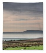 Mist In The Valley Fleece Blanket