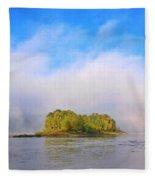 Mist Rising On The Willamette River Fleece Blanket