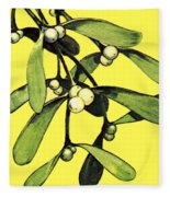 Mistletoe Fleece Blanket