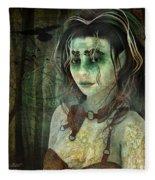 Mistress Of The Dark Woods Fleece Blanket