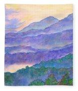 Misty Blue Ridge Fleece Blanket
