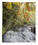 Misty Falls At Coker Creek Fleece Blanket