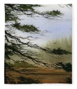 Misty Forest Bay Fleece Blanket