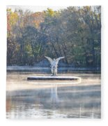 Misty Lake Angel Fleece Blanket