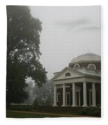 Misty Morning At Monticello Fleece Blanket