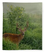 Misty Morning Deer Fleece Blanket