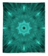 Misty Morning Star Bloom Fleece Blanket