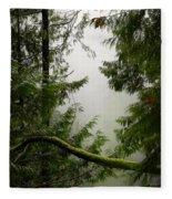 Misty Mossy Morning Fleece Blanket