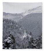 Misty Pikes Peak Fleece Blanket