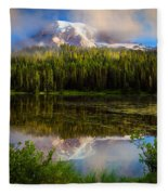 Misty Reflection Fleece Blanket