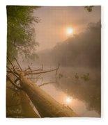 Misty Sun Fleece Blanket