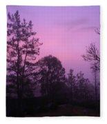 Misty Sunrise Fleece Blanket