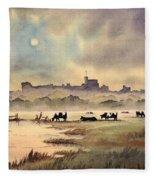 Misty Sunrise - Windsor Meadows Fleece Blanket