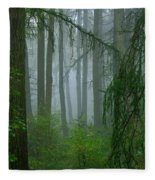 Misty Woodland Fleece Blanket