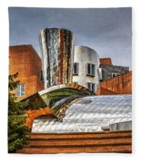 Mit Stata Building Center - Cambridge Fleece Blanket