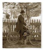 Mitchell Motorcycle Circa 1907 Fleece Blanket
