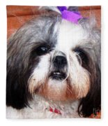 Mitzie - Shih Tzu Fleece Blanket