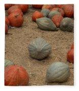 Mixed Pumpkins Fleece Blanket