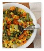 Mixed Vegetables Meal Fleece Blanket