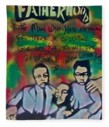 Mlk Fatherhood 1  Fleece Blanket