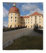 Moated Castle Moritzburg Fleece Blanket