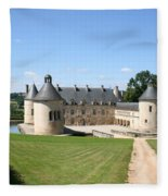 Moated Palace - Bussy-rabutin Fleece Blanket