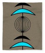 Mobile 3 In Turquoise Fleece Blanket