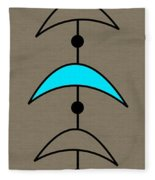 Mobile 4 In Turquoise Fleece Blanket