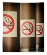 Mobile Photography Toned Row Of No Smoking Signs Fleece Blanket