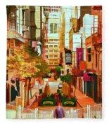 Mocca On Maiden Lane Fleece Blanket